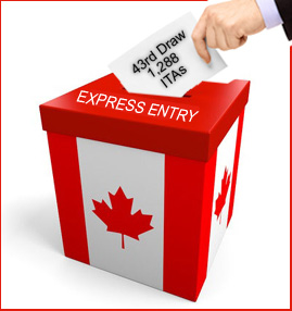 43rd Express Entry Draw: CRS Points Required Decreased from previous draw!