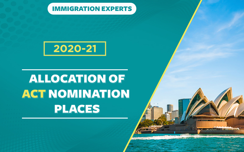 2020-21 ALLOCATION OF ACT NOMINATION PLACES