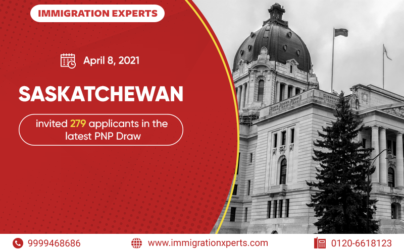Saskatchewan invited 279 applicants in the latest PNP Draw
