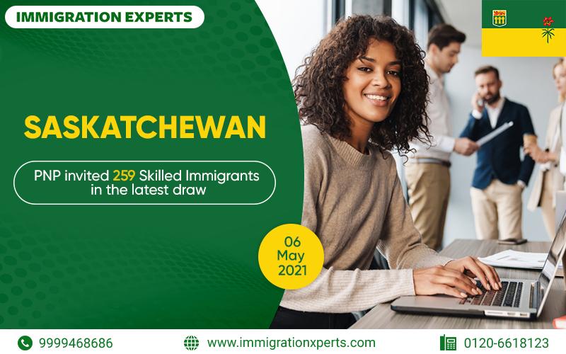 Saskatchewan PNP invited 259 Skilled Immigrants in the latest draw