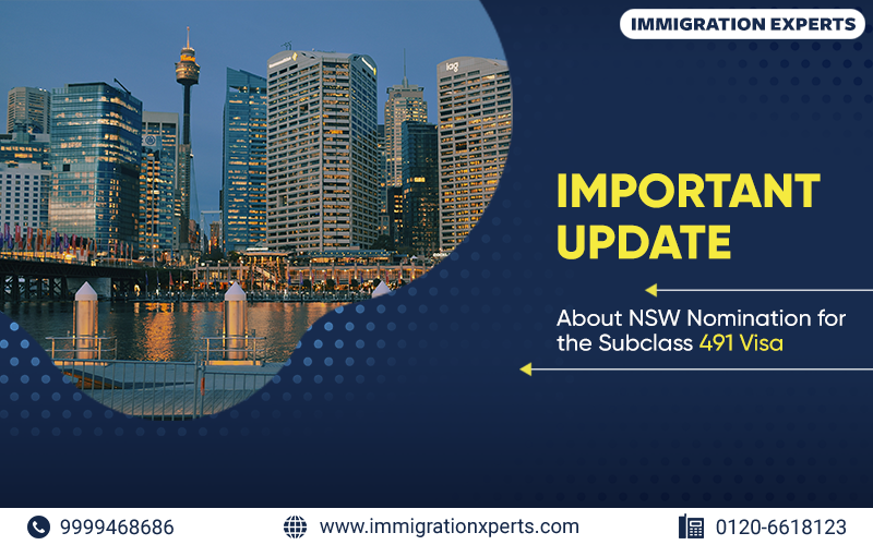 Important Information About NSW Nomination for the Subclass 491 Visa