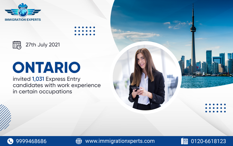 Ontario invited Express Entry candidates with work experience in certain occupations